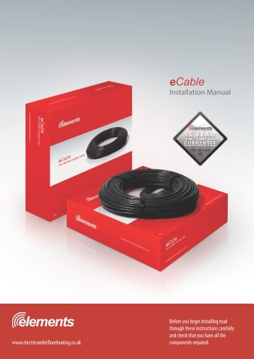 Installation Manual - Heat and Plumb