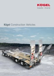 Kögel Construction Vehicles - JB Trailer