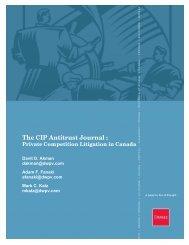 The CIP Antitrust Journal : - Davies Ward Phillips & Vineberg LLP