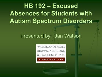 HB 192 – Excused Absences for Students with Autism Spectrum ...