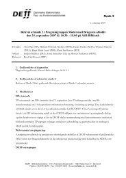 Referat af møde 3 i MmB - DEFF