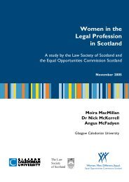 Women in the Legal Profession in Scotland - Law Society of Scotland
