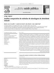 Análise comparativa de métodos de abordagem da obesidade infantil