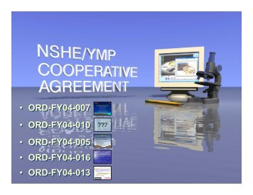2007 NSHE/YMP Cooperative Agreement Technical Progress ...