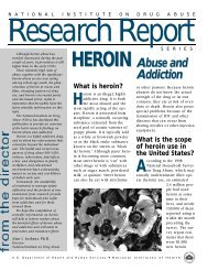 Heroin Abuse and Addiction Research Report - Center for Health ...