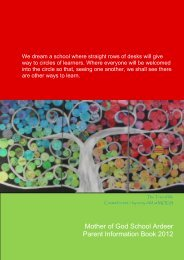The 2012-13 Parent Information Book - Mother of God Primary School