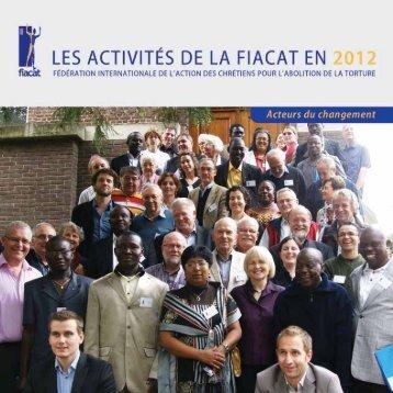 Télécharger le Rapport d'activité 2012 de la FIACAT