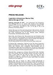 Press release - Werner Otto