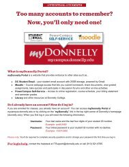 Accessing the myDonnelly Portal/Student E-mail ... - Donnelly College