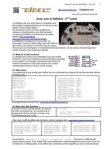 Jouer avec le DdRobot - 2 partie - Didel.com