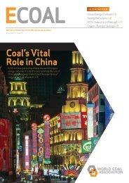 Coal's Vital Role in China - World Coal Association
