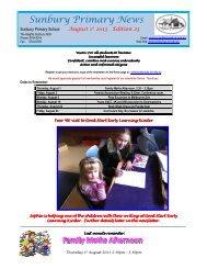 Newsletter No 23 August 1 2013 - Sunbury Primary School