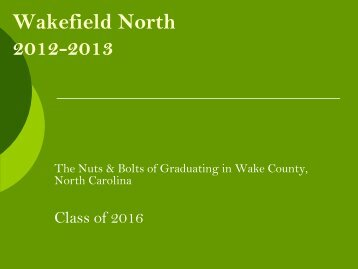 What you need to know - Wakefield High School