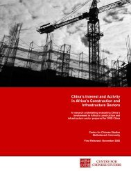 China's Interest and Activity in Africa's Construction and ...