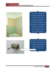 your installation by placing green board on the walls that will be tiled ...