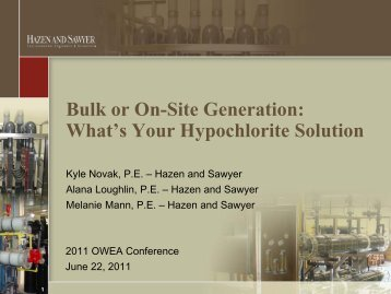 Bulk or On-Site Generation