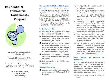 Residential & Commercial Toilet Rebate Program - Rancho Murieta ...
