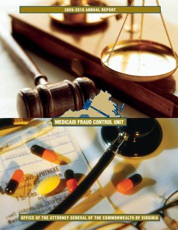 MEDICAID FRAUD CONTROL UNIT - Virginia Attorney General