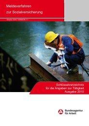 Tätigkeitsschlüssel - Meldeverfahren zur Sozialversicherung