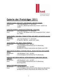 Galerie der Preisträger - Hochschule für Musik und Theater Rostock
