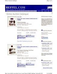 Online Auction Catalogue - Heffel