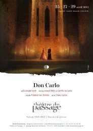 Don Carlo - Théâtre du Passage