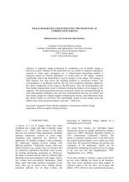 IMAGE MOSAICKING FOR ESTIMATING THE MOTION OF AN ... - UdG