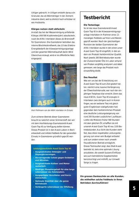 Das Kunden- magazin von Shell Aseol
