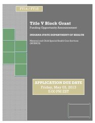Title V Block Grant - State of Indiana