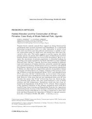 Habitat alteration and the conservation of African ... - Colin Chapman