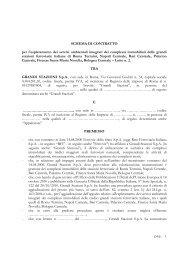 Schema di contratto Lotto n. 2 - Grandi Stazioni S.p.A.