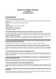 Conseil municipal du 26 octobre 2010 - Villenave d'Ornon