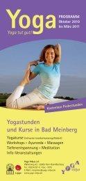 Yogastunden und Kurse in Bad Meinberg - Yoga Vidya