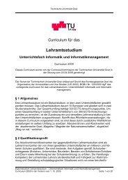 Curriculum für das Lehramtsstudium ... - mibla.TUGraz.at