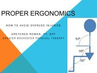 Proper Ergonomics: How to avoid Overuse Injuries