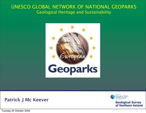 UNESCO GLOBAL NETWORK OF NATIONAL GEOPARKS - Geological Survey of ...