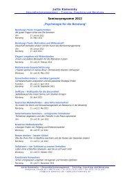 Themen und Inhalte für Seminare: - Quetheb