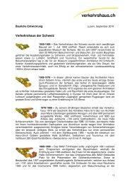 Bauliche Entwicklung - Verkehrshaus der Schweiz