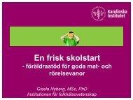 En frisk skolstart - föräldrastöd för hälsosamma mat - Folkhälsoguiden