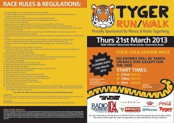 Download TYGER_PLEXUS 2013 Run ... - Top Events