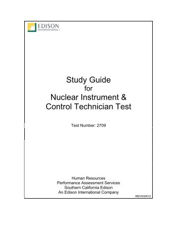 Study guide for nuclear chemistry technician nuclear instrument control technician edison international fandeluxe Gallery