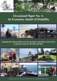 An Economic Model of Disability - Travability