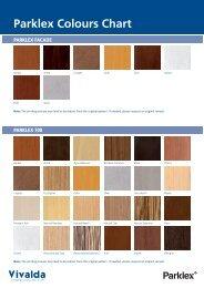 Parklex Colours Chart - Vivalda