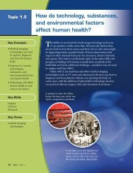 How do technology, substances, and environmental factors affect ...