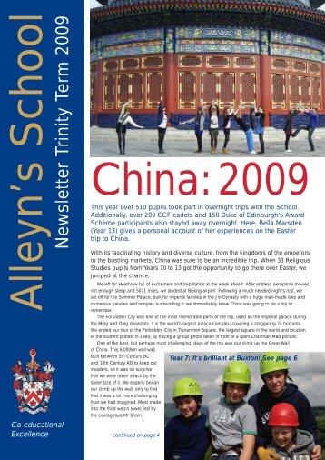 Newsletter Trinity Term 2009 - Alleyn's School