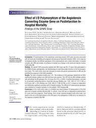 Effect of I/D Polymorphism of the Angiotensin Converting Enzyme ...