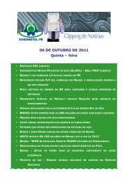 06 DE OUTUBRO DE 2011 Quinta – feira - Sindimetal/PR