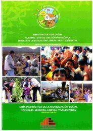 Guía instructiva de la movilización social: Escuela seguras ... - CDAM