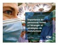 Importance du personnel formé à l'étranger et stratégies de ...