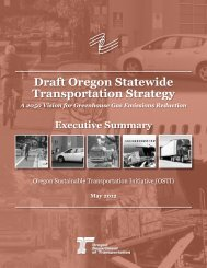 Draft Oregon Statewide Transportation Strategy - Lane Council of ...